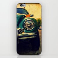 beetle iPhone & iPod Skins featuring Beetle by Melissa Lund