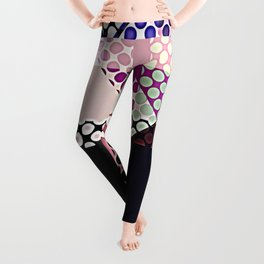 Pattern Multi Color Abstract Leggings