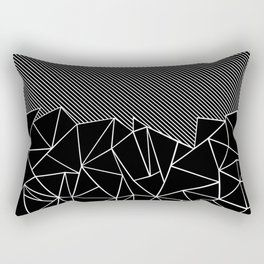 Ab Lines 45 Black Rectangular Pillow