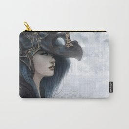 Bluish Black - Mysterious fantasy mage girl portrait Carry-All Pouch