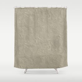 Beige Rough Plastering Texture Shower Curtain