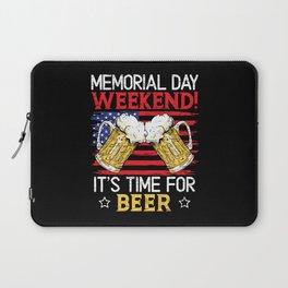 Memorial Day Weekend It's Time For Beer American Laptop Sleeve