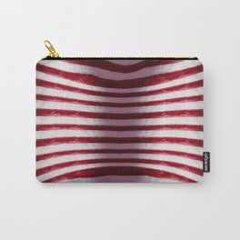 Red and White Organic Rib Cage Carry-All Pouch