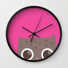 The Hiding Owl Wall Clock