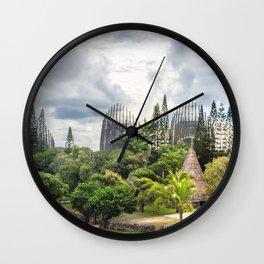 Tjibaou Cultural Centre Panorama in Noumea, New Caledonia. Wall Clock
