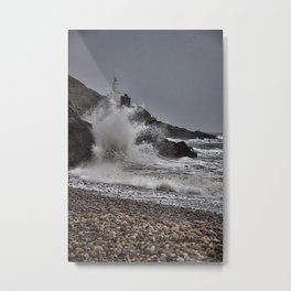 Mumbles Wild Waves. Metal Print