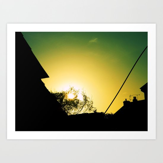 Sunset In Cornwall, UK Art Print