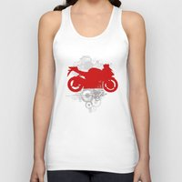 racing Tank Tops featuring Racing by Ezgi Kaya