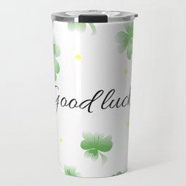 Four leaf clover design,good luck Travel Mug