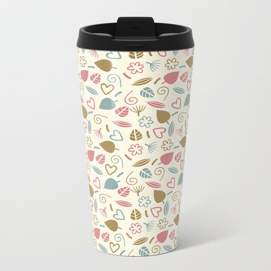 Colorful Lovely Pattern XIII Metal Travel Mug