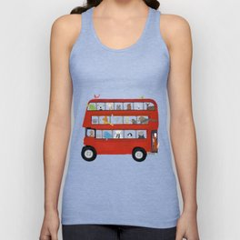 the big little red bus Unisex Tank Top