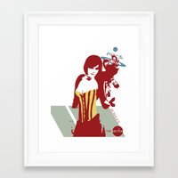 bioshock Framed Art Prints featuring Bioshock - Liz. by The_Section