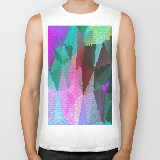 Stained Glass 3 Biker Tank