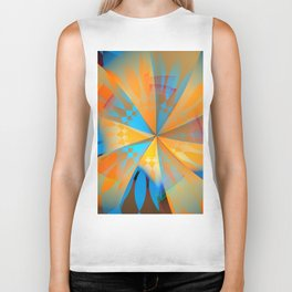 Thinking of a blue sky and the summer sun Biker Tank