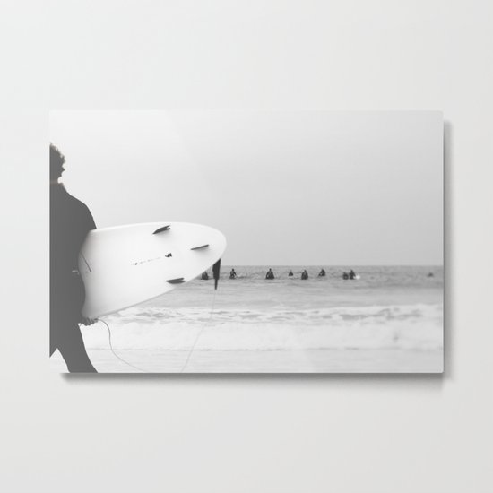 catch a wave II Metal Print