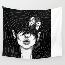 Girl With a Ribbon  Wall Tapestry
