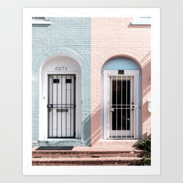House Pastel / Pink and Blue Art Print