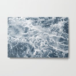 Pacific Ocean Waves Pattern Aerial Photography Metal Print