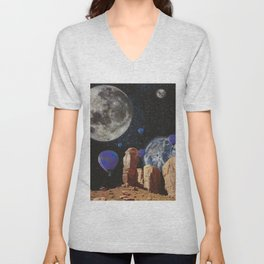 The slow trip in the universe Unisex V-Neck