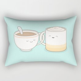 coffee, tea.. everything is fine by me! Rectangular Pillow