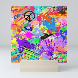 Psychodelic Hipppie Abstract Painting Mini Art Print
