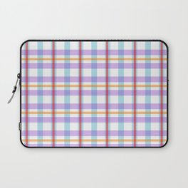 Gridlines of purple, blue and red on white Laptop Sleeve