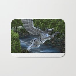 White Tiger Griffin Bath Mat