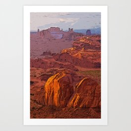 Arizona Monument Valley Art Print