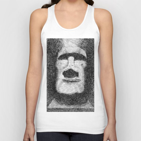 Easter island - Moai statue - Ink Unisex Tank Top