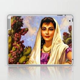 Jesus Helguera Painting of a Calendar Girl with Cream Shawl Laptop & iPad Skin