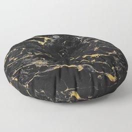 Gold Flecked Black Marble Floor Pillow