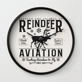 Reindeer Aviation - Christmas Wall Clock