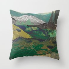 Buffalo Mountains Throw Pillow