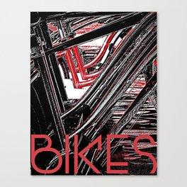 Bikes Poster (a) Canvas Print