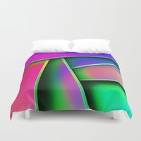 grafitti Duvet Covers featuring Grafitti by Party Peeps