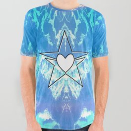 Love Wash Over Me All Over Graphic Tee