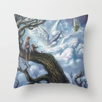 once upon a  time Throw Pillows featuring Once Upon A Time by muratturan
