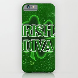 Irish Diva - St Patrick's Day Clover iPhone Case