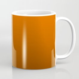 Dark Halloween Pumpkin Orange and Black Deadly Ombre Nightshade Coffee Mug