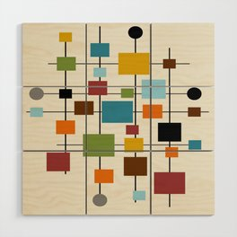 Mid-Century Modern Art 1.3 Wood Wall Art