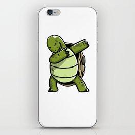 Funny Dabbing Tortoise Pet Dab Dance iPhone Skin