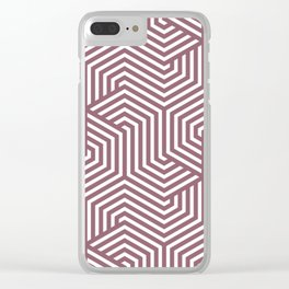 Raspberry glace - violet - Minimal Vector Seamless Pattern Clear iPhone Case