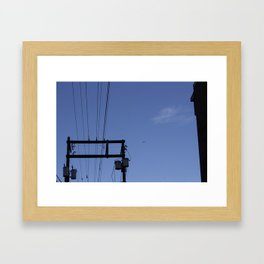 Birds and the Tower Framed Art Print
