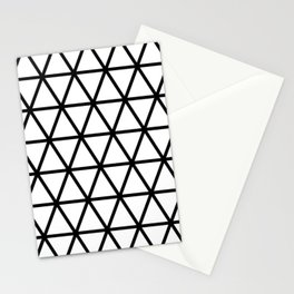 Black Triangle Pattern 2 Stationery Cards