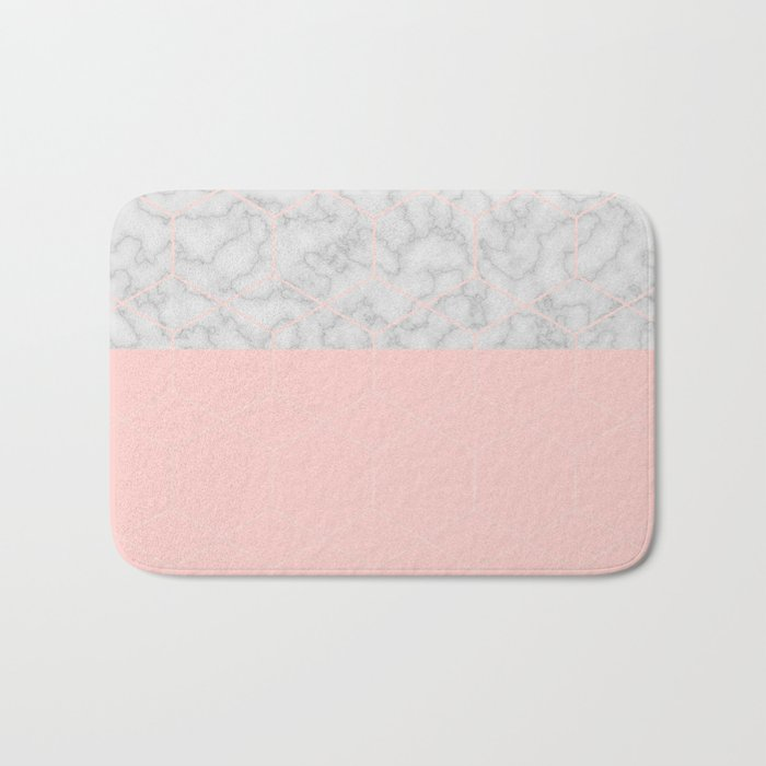 Marble With Poygone Bath Mat