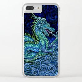 Chinese Azure Dragon Clear iPhone Case