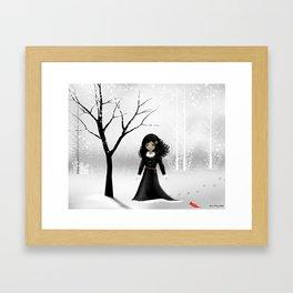 Dark Goth Girl Art - January Framed Art Print