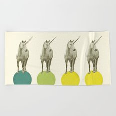 Unicorn Parade Beach Towel