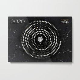 Lunar circular calendar 2020 #2 Metal Print