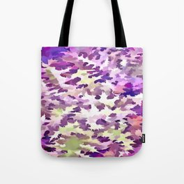 Foliage Abstract Pop Art In UltraViolet Purple and Lilac Tote Bag